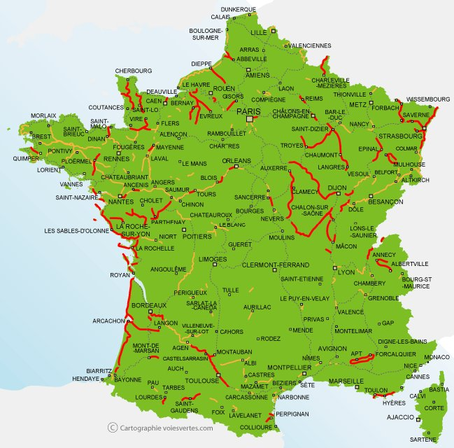 Bahnstrecken Frankreich